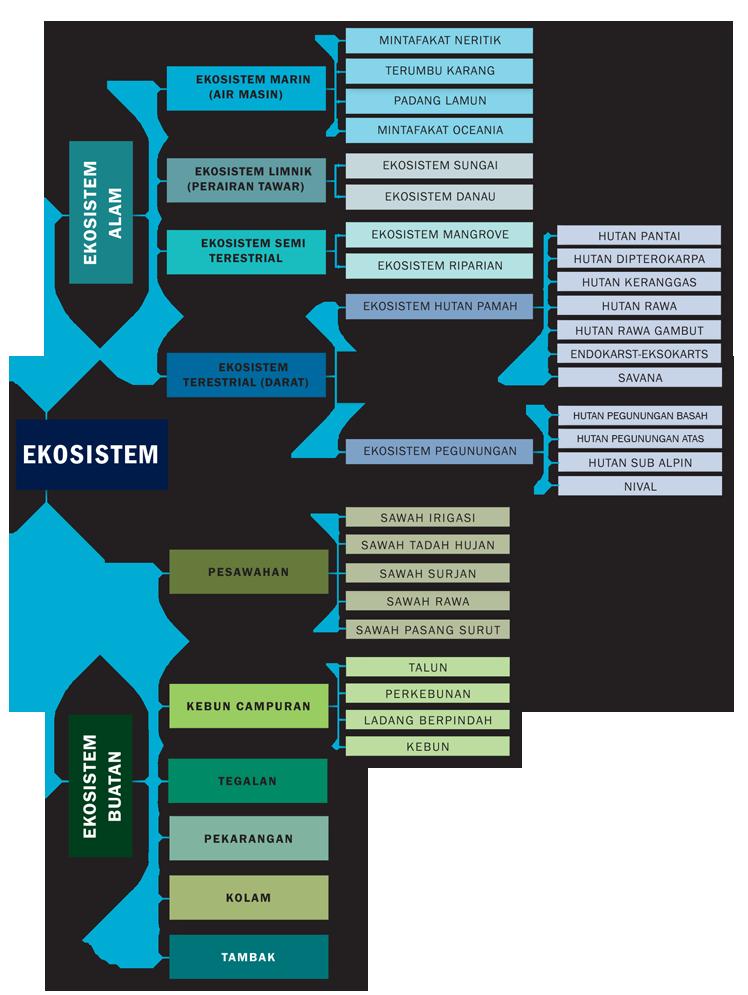 Klasifikasi Ekosistem di Indonesia (Sumber; LIPI 2014)